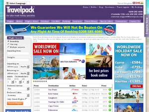 Travelpack website