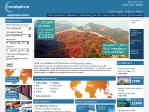 Travelsphere website
