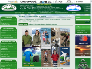 Trekwear website