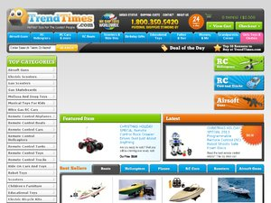 Trend Times Toys website