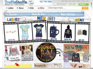 Truffle Shuffle website