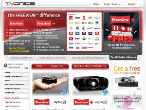 TVonics website