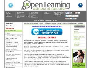 UK Open Learning website