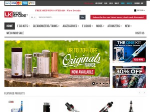 UKEcigStore website