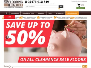 UK Flooring Direct website