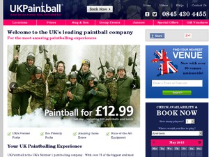 UKPaintball website