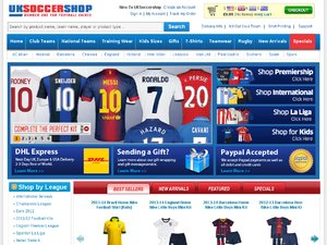 UK Soccer Shop website