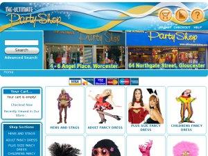 Ultimate Party Shop website