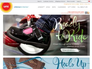 UMI Children's Shoes website