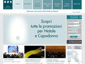 Una Hotels & Resorts website