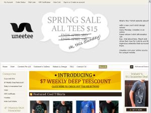 Uneetee.com website