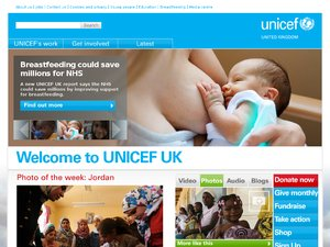 Unicef Shop website