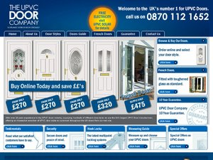 UPVC Doors Online website