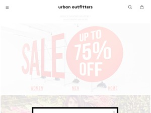 Urban Outfitters website