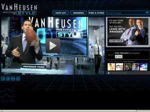 Van Heusen website