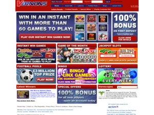 Vernons UK website