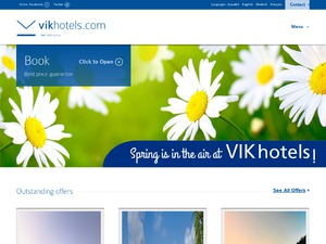 Vik Hotels website