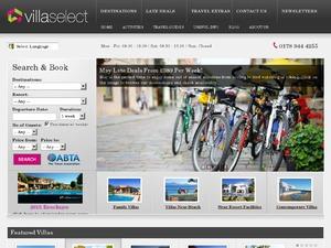 Villa Select website