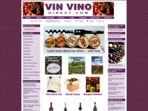 Vin Vino Direct Ltd website