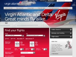 Virgin Atlantic website