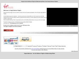 Virgin Balloon Flights website