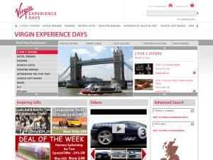 Virgin Experience Days website