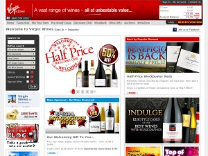 Virgin Wines website