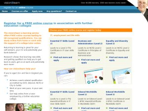 Vision2Learn website