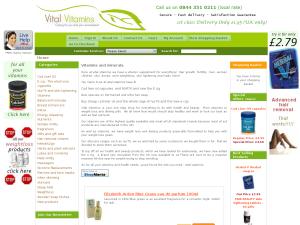 Vital Vitamins website