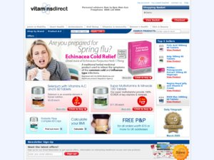 Vitamins Direct website