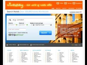 Vivastay Travel website
