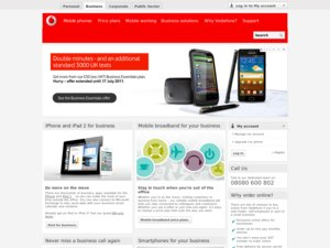 Vodafone Business website