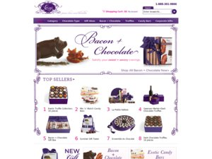 Vosges Chocolates website