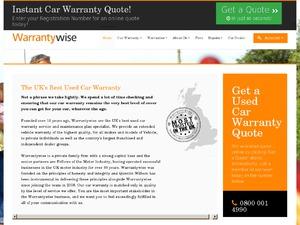 Warranty Wise website