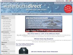 WaterButtsDirect website