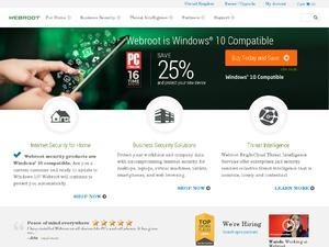 Webroot Software Inc. website
