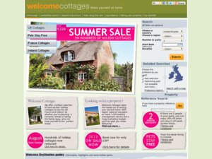Welcome Cottages website