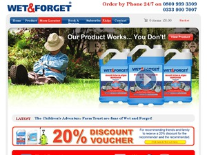 Wet and Forget website