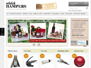 Whisk Hampers website