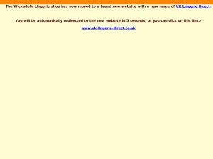 Wickedelic Lingerie website