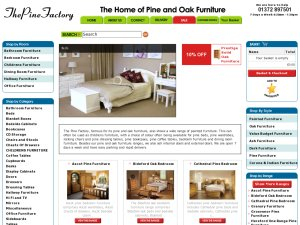 The Pine Factory website