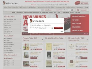 wine.com website