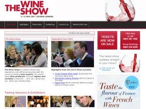 Wine Show website