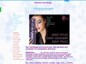 Womens Handbagz website