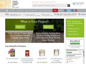 Wood Finishes Direct website