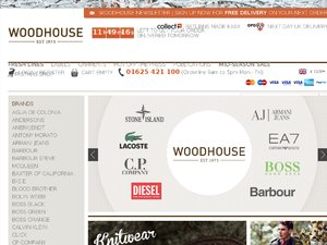 Woodhouse Clothing website
