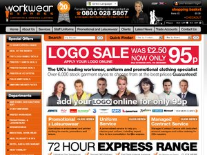 Workwear Express website