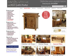 World Furniture website