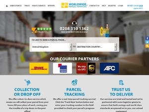 worldwide-parcelservices website