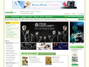 Yes Asia website